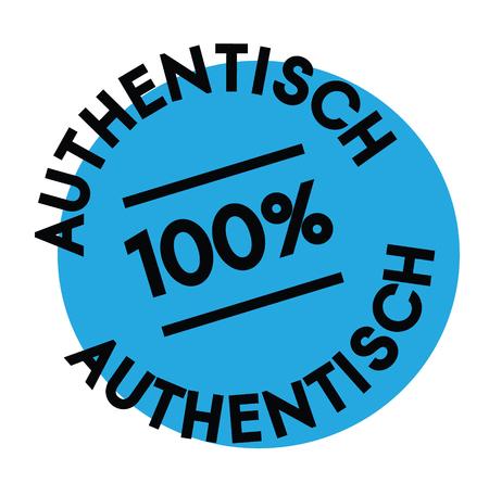 authentic black stamp in german language. Sign, label, sticker