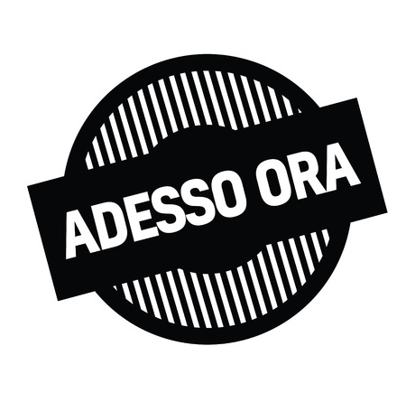 now hiring black stamp in italian language. Sign, label, sticker