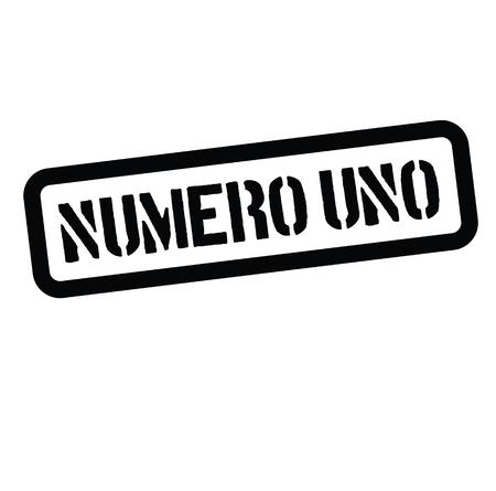number one stamp in italian Stock Illustratie