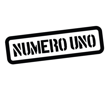 number one stamp in italian Illustration