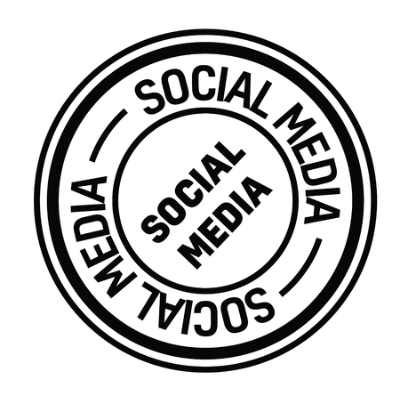 social media black stamp in italian language. Sign, label, sticker