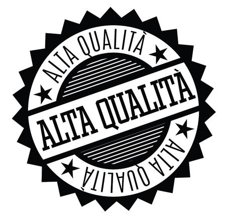 hochwertiger schwarzer Stempel in italienischer Sprache. Schild, Etikett, Aufkleber Vektorgrafik