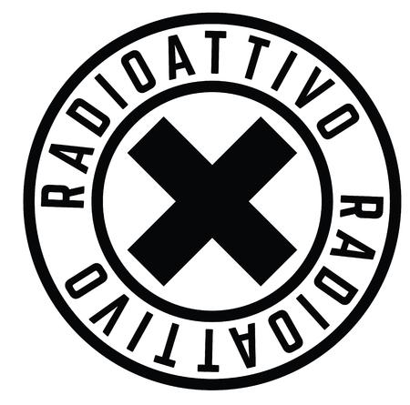 radioactive stamp in italian  イラスト・ベクター素材