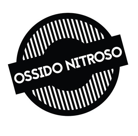 nitrous oxide black stamp in italian language. Sign, label, sticker 向量圖像