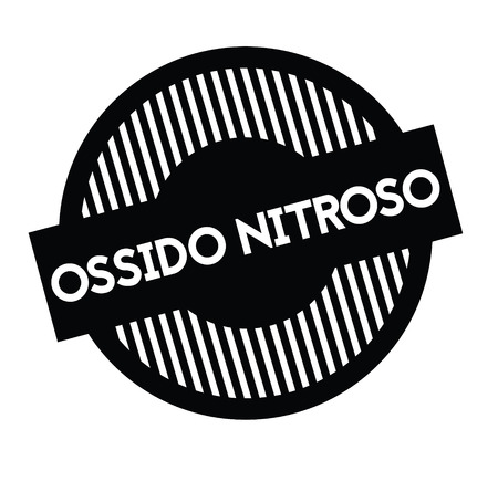 nitrous oxide black stamp in italian language. Sign, label, sticker Illustration