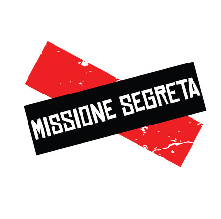 secret mission stamp in italian Illustration
