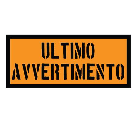 final reminder stamp in italian