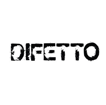 defect black stamp in italian language. Sign, label, sticker 矢量图像
