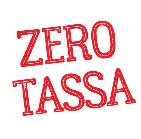 zero tax black stamp in italian language. Sign, label, sticker