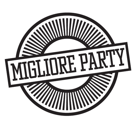 best party black stamp in italian language. Sign, label, sticker