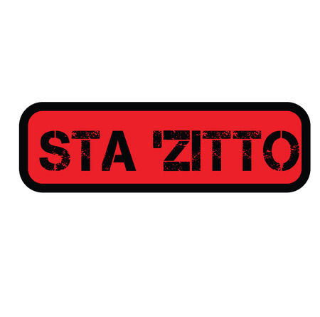 shut up stamp in italian Banque d'images - 107440630