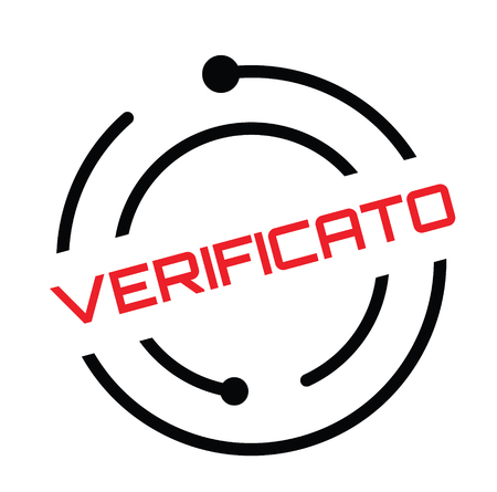 verified stamp in italian