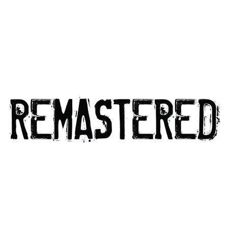 remastered rubber stamp black. Sign, label sticker Stock fotó - 107494508