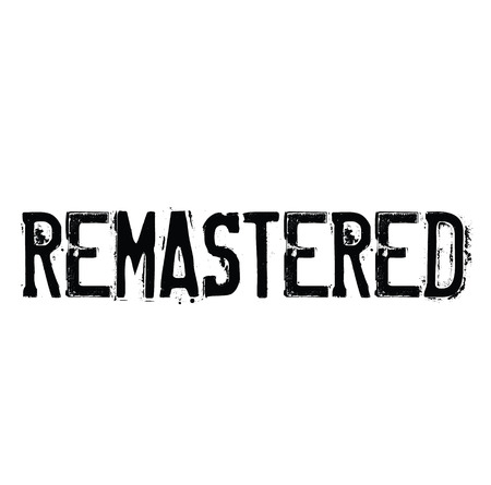 remastered rubber stamp black. Sign, label sticker