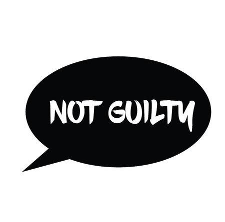 not guilty rubber stamp black. Sign, label sticker  イラスト・ベクター素材