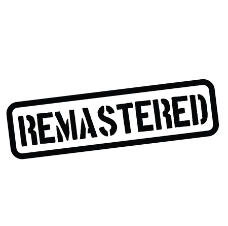 remastered rubber stamp black. Sign, label sticker
