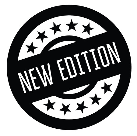 new edition rubber stamp black. Sign, label sticker