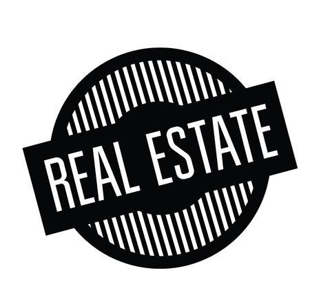 real estate rubber stamp black. Sign, label sticker 일러스트