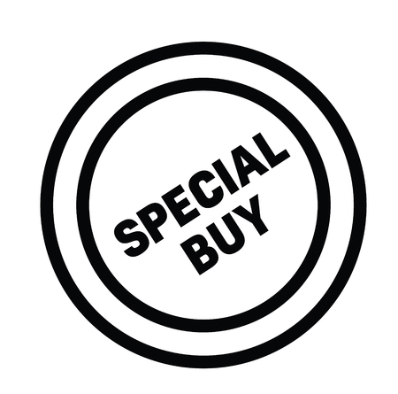 special buy rubber stamp black. Sign, label sticker Imagens - 107494519