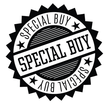 special buy rubber stamp black. Sign, label sticker