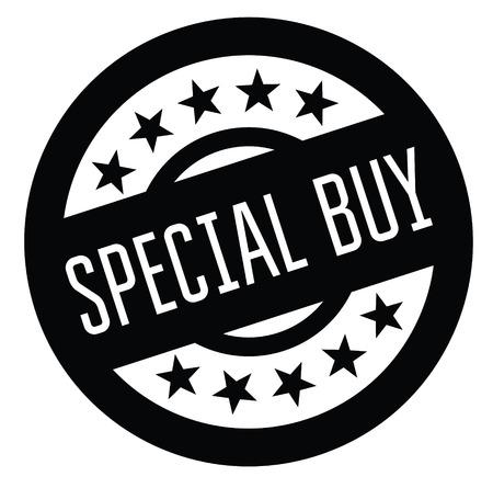 special buy rubber stamp black. Sign, label sticker