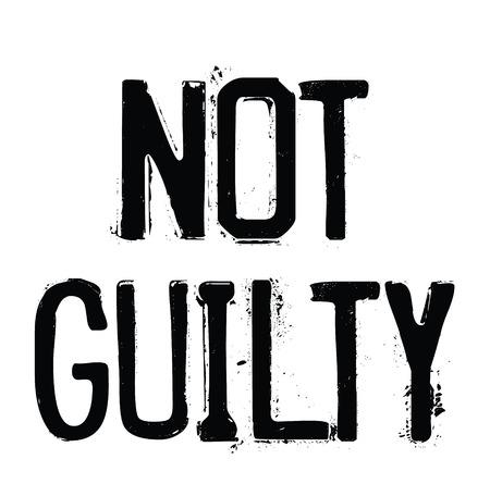 not guilty rubber stamp black. Sign, label sticker 일러스트