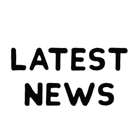 latest news rubber stamp black. Sign, label sticker Illustration