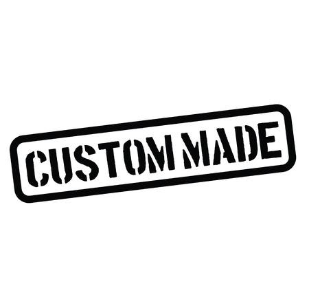 custom made rubber stamp black. Sign, label sticker