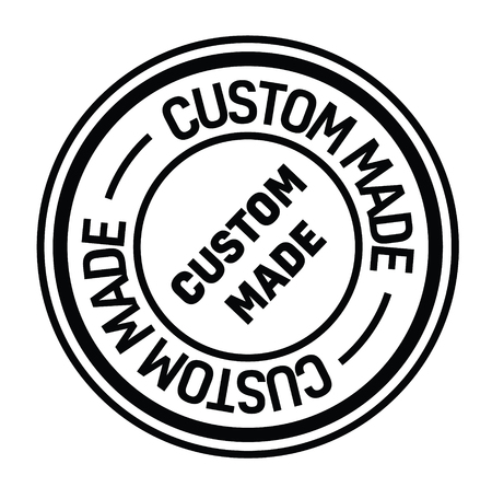 custom made rubber stamp black. Sign, label sticker