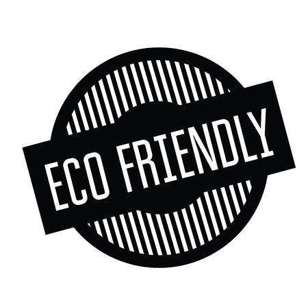 eco friendly rubber stamp black. Sign, label sticker Illustration