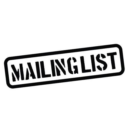 mailing list rubber stamp black. Sign, label sticker Stockfoto - 110434692