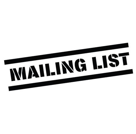 mailing list rubber stamp black. Sign, label sticker Stok Fotoğraf - 110434694