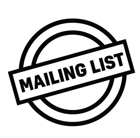 mailing list rubber stamp black. Sign, label sticker Stockfoto - 110434695