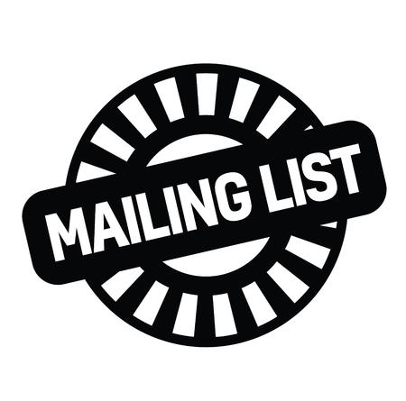 mailing list rubber stamp black. Sign, label sticker Stockfoto - 110434697