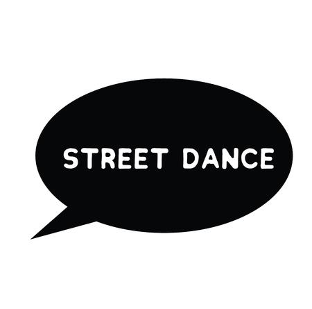 street dance rubber stamp black. Sign, label sticker Illustration