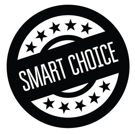 smart choice rubber stamp black. Sign, label sticker