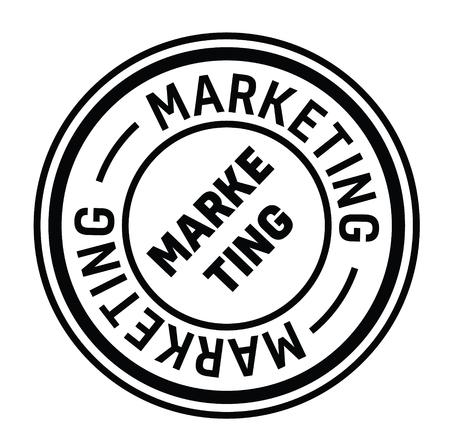 marketing rubber stamp black. Sign, label sticker Illustration