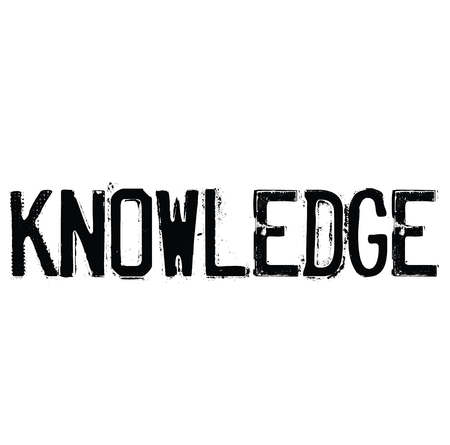 knowledge rubber stamp black. Sign, label sticker