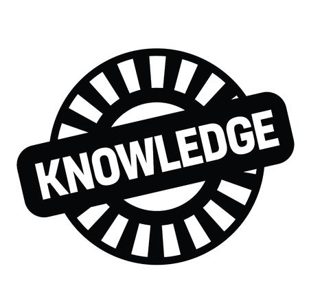knowledge rubber stamp black. Sign, label sticker Vetores