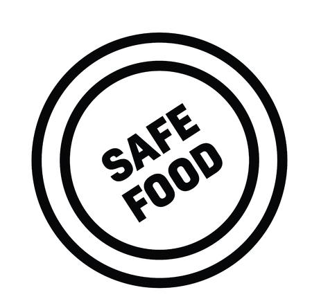 safe food rubber stamp black. Sign, label sticker