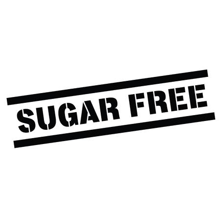 sugarfree rubber stamp black. Sign, label sticker Reklamní fotografie - 110402242