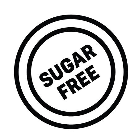 sugarfree rubber stamp black. Sign, label sticker