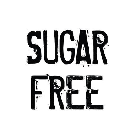 sugarfree rubber stamp black. Sign, label sticker Reklamní fotografie - 107498310