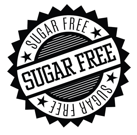 sugarfree rubber stamp black. Sign, label sticker