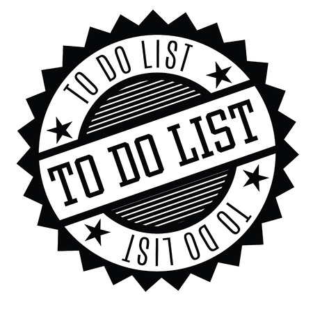 to do list rubber stamp black. Sign, label, sticker