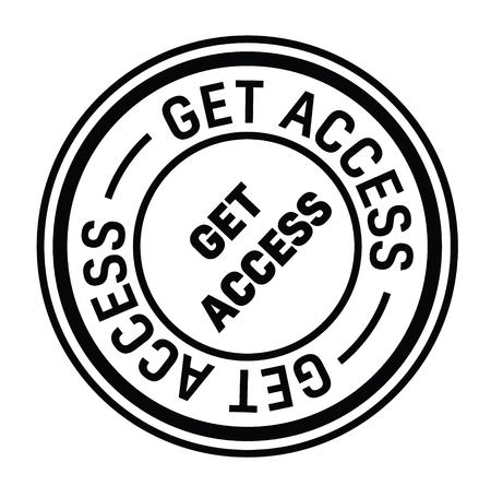 get access rubber stamp black. Sign, label sticker 向量圖像