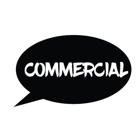 commercial rubber stamp black. Sign, label sticker Illustration