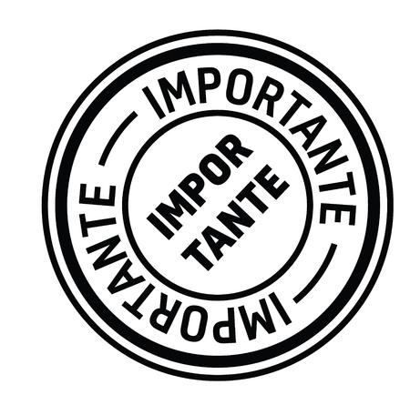 important black stamp in spanish language. Sign, label, sticker