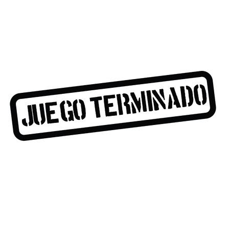 juego sobre sello negro en español. Signo, etiqueta, pegatina