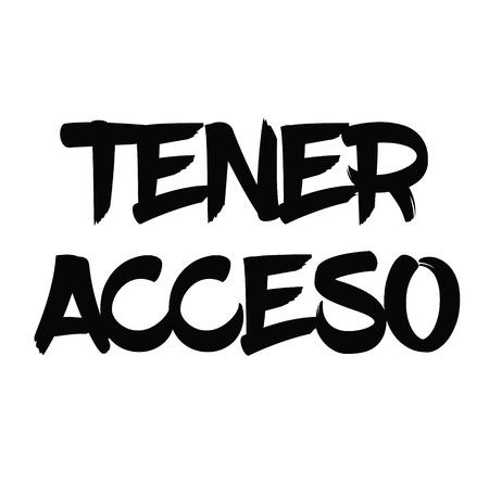 get access black stamp in spanish language. Sign, label, sticker